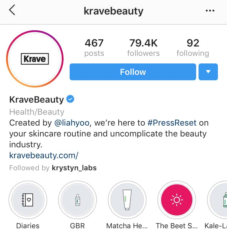 Business account instagram username sample