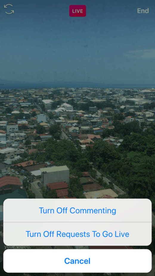 How To Go Live On Instagram: Moderate Comments