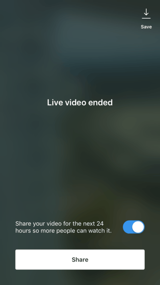 How To Go Live On Instagram: Saving Live Videos
