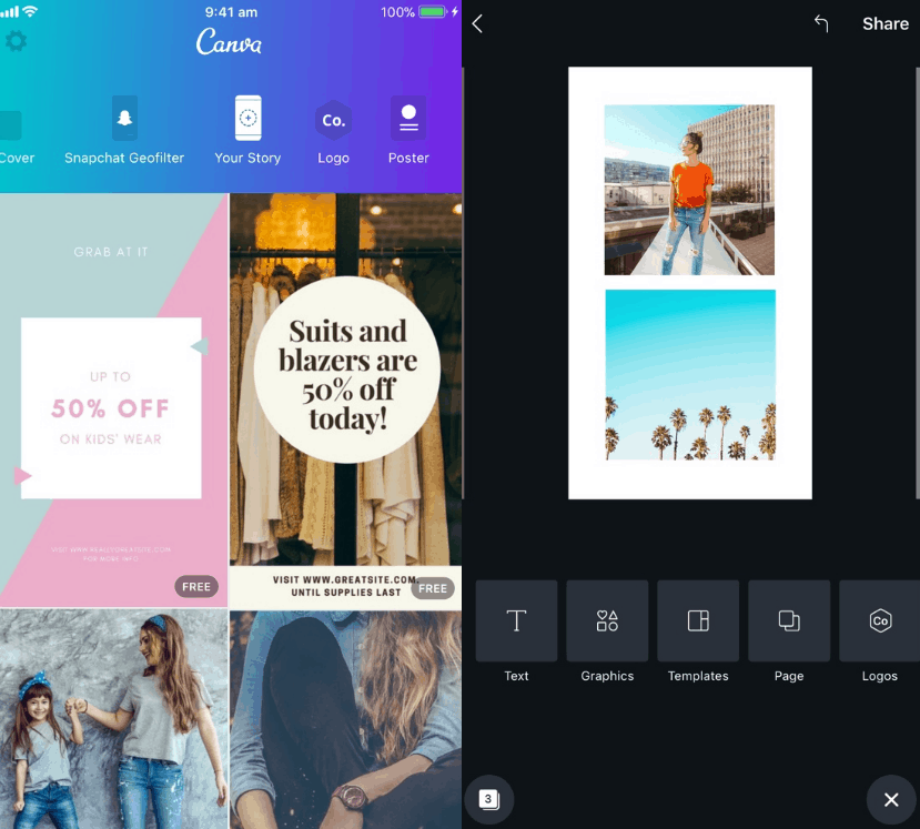 Canva - Best Instagram App for Templates