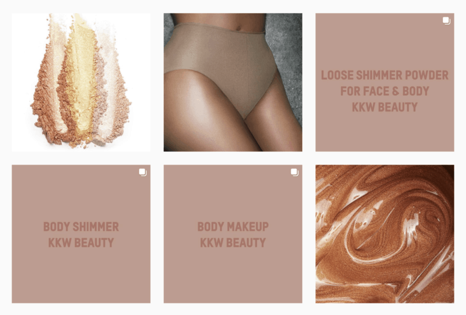 KKW grid - Boost your Instagram marketing with strong aesthetic choices