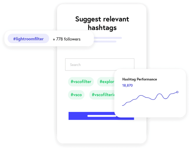 Image showing how Nitreo can target Instagram hashtags