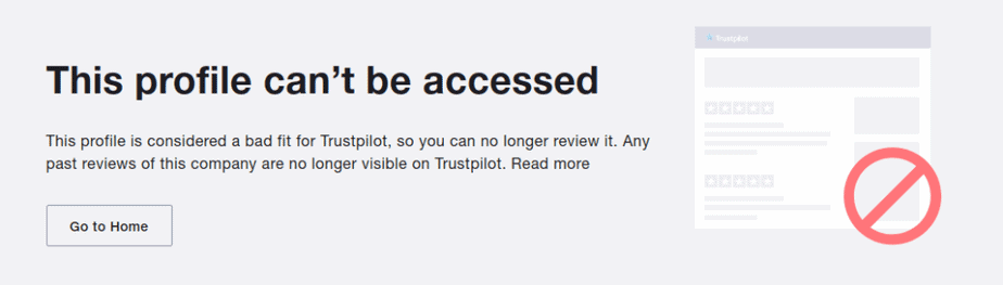 A screenshot depicting the search results for AppSally on Trustpilot.